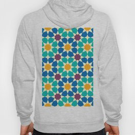 Moroccan pattern, Morocco. Patchwork mosaic with traditional folk geometric ornament Hoody