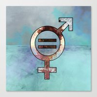 equality Canvas Prints featuring equality by infloence