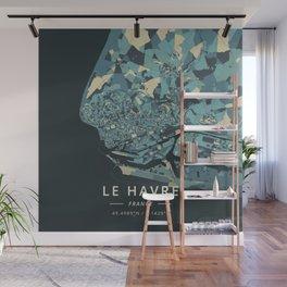 Le Havre, France - Cream Blue Wall Mural