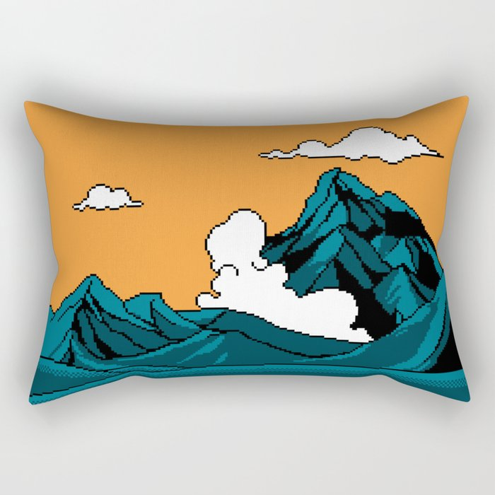 THE MOUNTAIN OF DRAGONS Rectangular Pillow