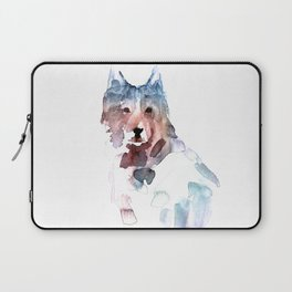 Wolf / Abstract animal portrait. Laptop Sleeve