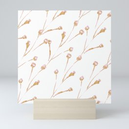 Delicate Blossom Pink + Gold Glitter Mini Art Print