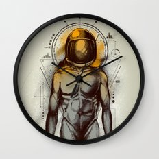 Naked Space Wall Clock