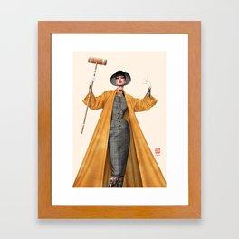 Croquet and Ink Eight Framed Art Print