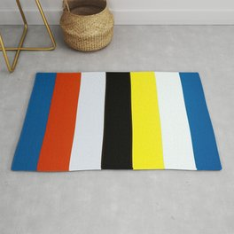 Ellsworth Kelly Red Yellow Blue White and Black Rug