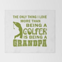 Grandpa Over Golf Throw Blanket