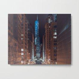 Skyscraper in Chicago Metal Print