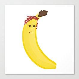 Banana in Bandana Canvas Print
