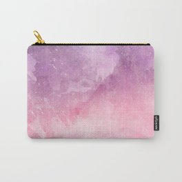 Pink Watercolor Texture Carry-All Pouch