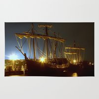 ships Area & Throw Rugs featuring Tall Ships by Forand Photography
