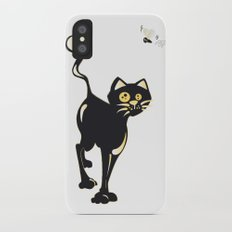Cat and Fly iPhone X Slim Case