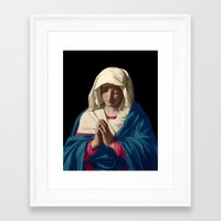 madonna Framed Art Prints featuring Madonna by A Samuel