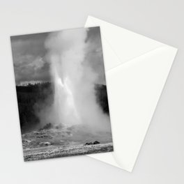 Old Faithful in Black and White Stationery Cards