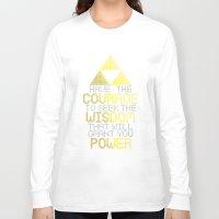 motivational Long Sleeve T-shirts featuring Triforce Motivational by JesseThomas