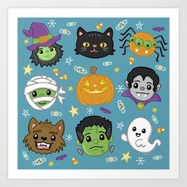 Spooky Doodles Art Print