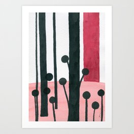 Black and red #3 Ink painting Art Print