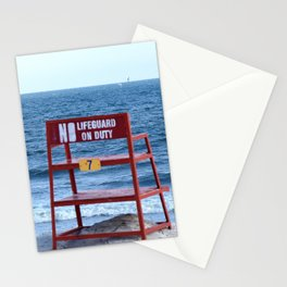 No Lifeguard on Duty Stationery Cards