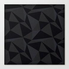 Triangular Black Canvas Print