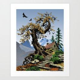 BLUE RIDGE OAK AND KOMA KULSHAN Art Print
