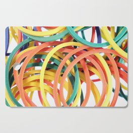 Many Colored Scattered Stationery Rubbers Cutting Board
