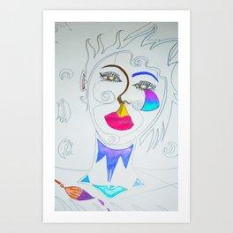 The stylist Art Print