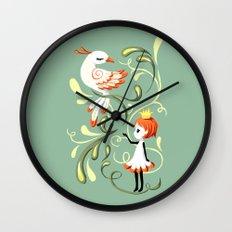 Princess and a Bird Wall Clock