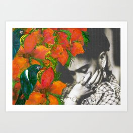Tribute to Frida Kahlo #40 Art Print