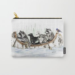 """ Critter Canoe "" wildlife rowing up river Carry-All Pouch"