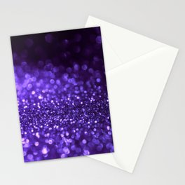 Pantone Color 2018 Ultra Violet Purple Glitter Stationery Cards