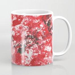 Red Camo Pattern Print Acrylic Artwork Black Splatter Painting Coffee Mug