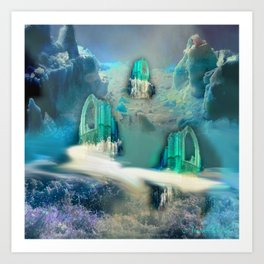 Secret place to relax Art Print