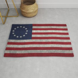 Betsy Ross flag - grungy Rug