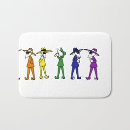 Rainbow Spy Party Bath Mat