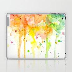 Rainbow Watercolor Pattern Texture Laptop & iPad Skin