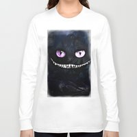 cheshire cat Long Sleeve T-shirts featuring CHESHIRE by Julien Kaltnecker