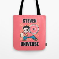 steven universe Tote Bags featuring Steven by ZoeStanleyArts