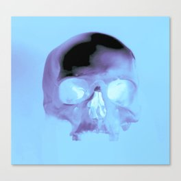 Cyan Skull Canvas Print