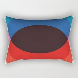 Blue and red circles Rectangular Pillow