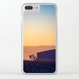 Sunset Iceberg Clear iPhone Case