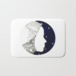 Girl in the Universe Bath Mat