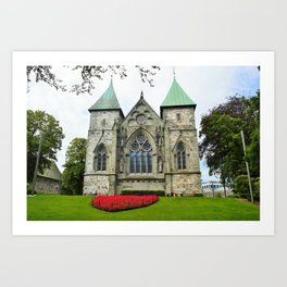 Stavanger Cathedral Art Print