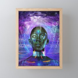 Facial Recognition Framed Mini Art Print