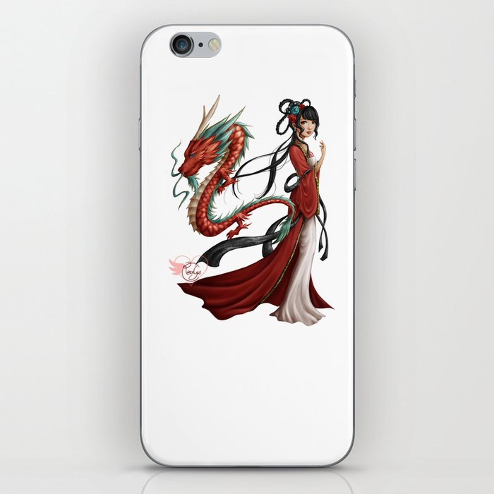 Chinese dragon pure iPhone Skin
