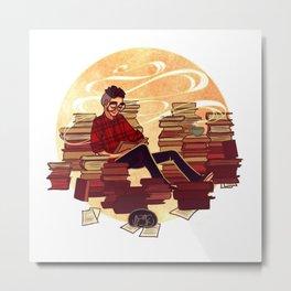 Book Lover Boy Metal Print
