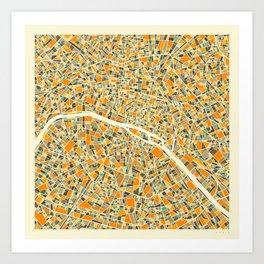 Paris Map Kunstdrucke