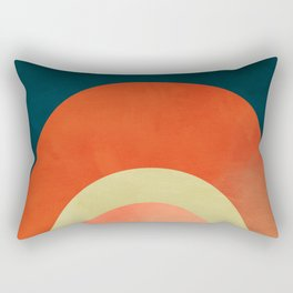 mid century geometric abstract autumn 2 Rectangular Pillow