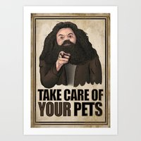 Take Care of your Pets Art Print