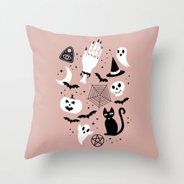 Halloween Strange Things Throw Pillow