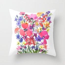 Little Pink Poppies Throw Pillow