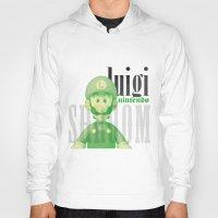 luigi Hoodies featuring Luigi by Thomas Official